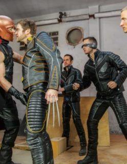 Paródia gay dos super heróis do X-Men xxx
